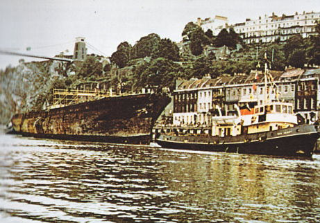 SS Great Britain returning to Bristol 19 July 1970
