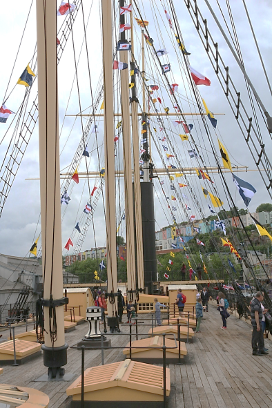 The SS Great Britain was a steamer with auxiliary sail