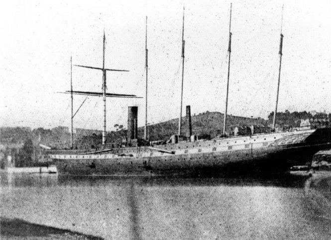 Photograph taken after launch of SS Great Britain by William Talbot